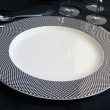 BLACK WHITE CHINA CHARGER PLATE