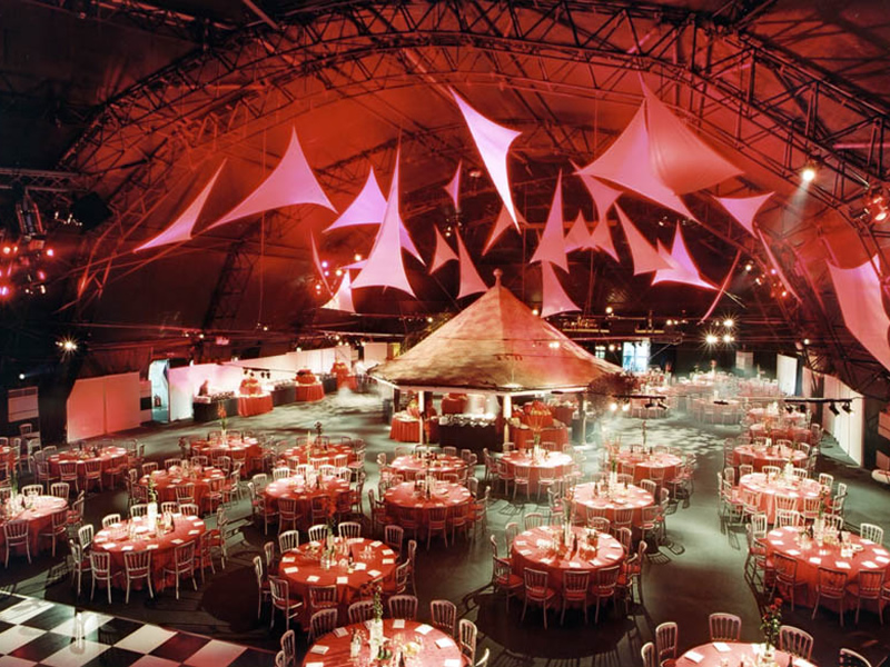Allison Stiven - Corporate Event held in a large hanger